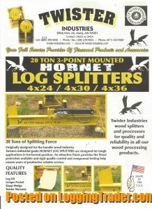 Trading post log splitters